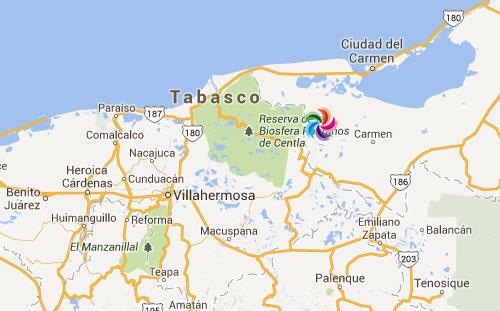 Mapa de Pueblos Mgicos en Tabasco  Pueblos Magicos de Mexico