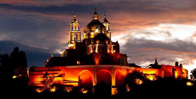 La sagrada Cholula Playas en Mexico