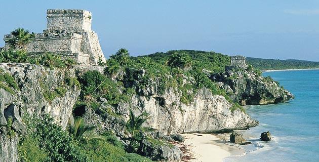 Resultado de imagen para Zona Arqueológica de Tulum playa del carmen mexico