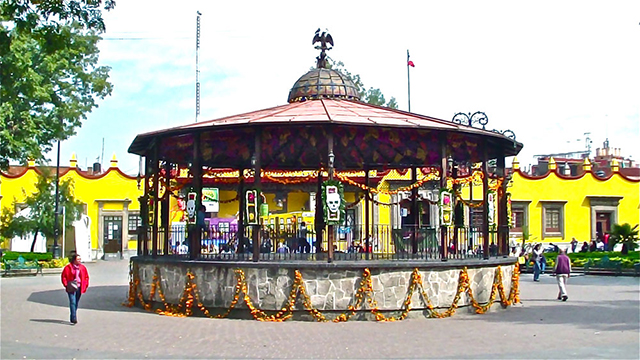 Kiosco de Coyoacán, uno de los kioscos de la CDMX