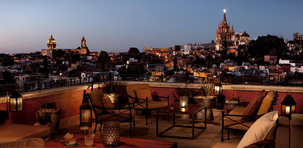 terraza en San Miguel de Allende