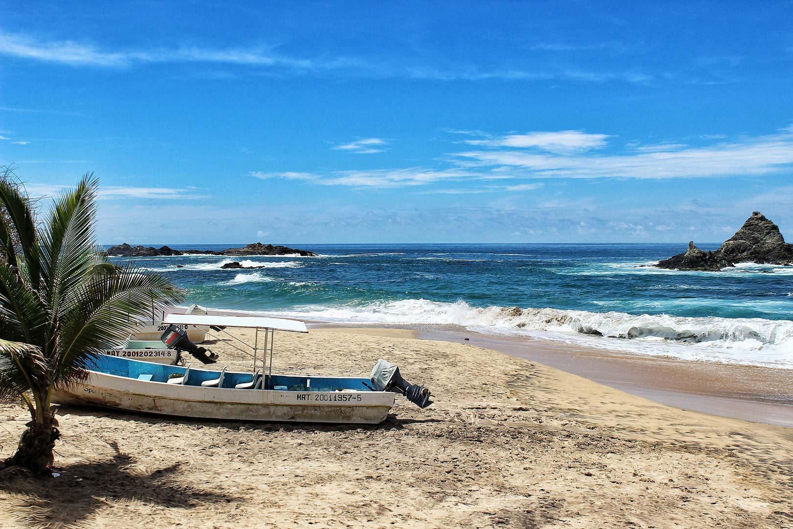 Vista de la playa de Mazunte, Oaxaca
